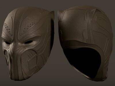 黑豹 头盔-3d打印模型