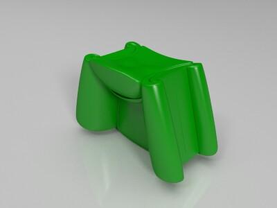 一对特色小沙发-3d打印模型