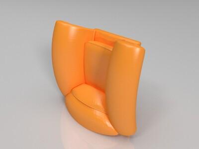 特色花瓣沙发-3d打印模型