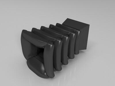 特色插花瓶-3d打印模型