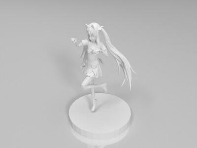 毛女手办-3d打印模型