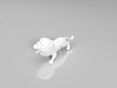 凶猛的狮子-3d打印模型