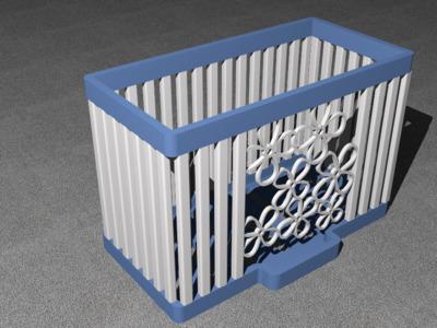 镂空置物篮-3d打印模型