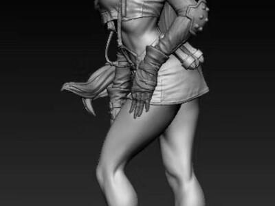 Tifa蒂法最终幻想女人-3d打印模型
