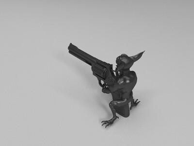 高炮,手办-3d打印模型