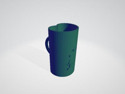 千岁之桃 笔筒-3d打印模型