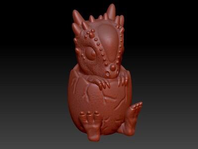恐龙蛋灯笼&存钱罐-3d打印模型