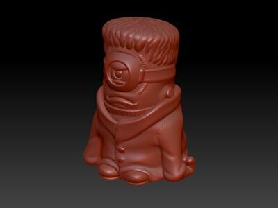 小黄人科学怪人灯笼&存钱罐-3d打印模型