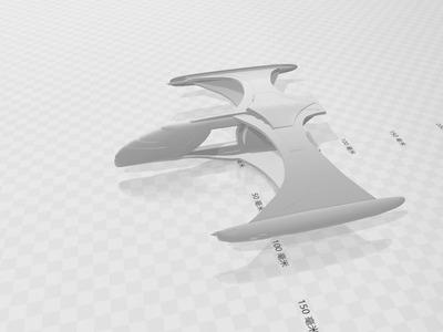 星际迷航罗慕兰霍罗级v2模型-3d打印模型
