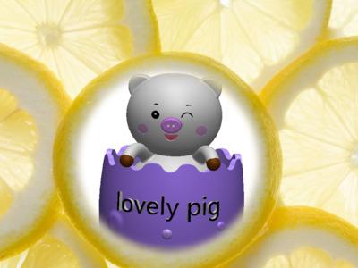 可爱小猪摆件-3d打印模型