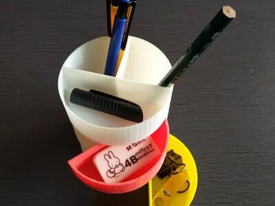 多功能笔筒-3d打印模型