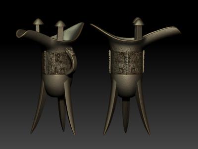 酒器-爵-3d打印模型