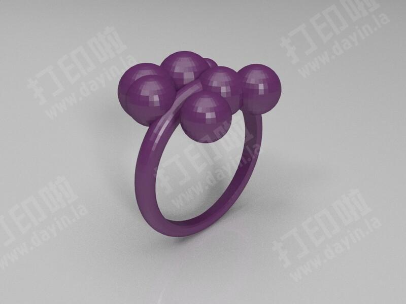 泡泡戒指 -3d打印模型