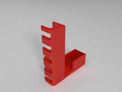书柜挂钩-3d打印模型