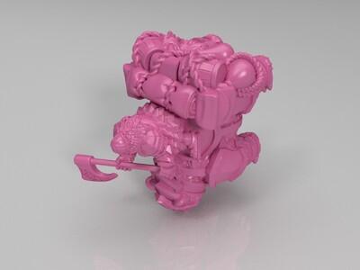 骑士和怪兽-3d打印模型