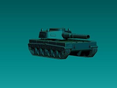 新型坦克-3d打印模型