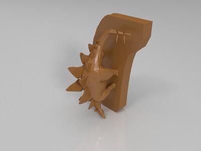 剑龙 手办-3d打印模型