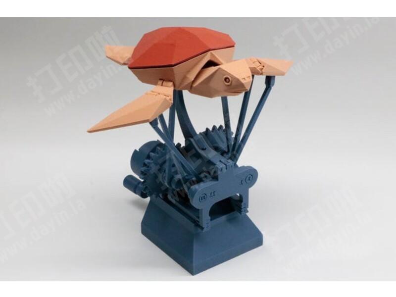 会飞的乌龟 手摇曲柄连杆-3d打印模型