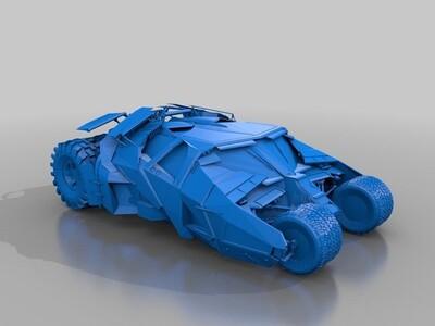 蝙蝠车-3d打印模型
