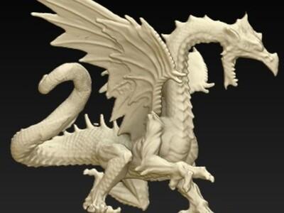 冰龙-3d打印模型