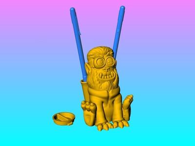小黄人之狼灯笼&存钱罐 筆插-3d打印模型