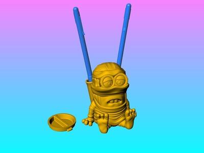 小黄人木乃伊灯笼&存钱罐 筆插OK-3d打印模型
