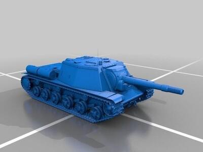 坦克模型-3d打印模型