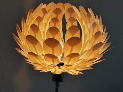 莲花灯罩-3d打印模型