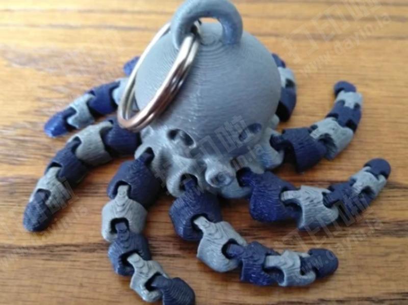 八爪鱼小章鱼钥匙扣-3d打印模型