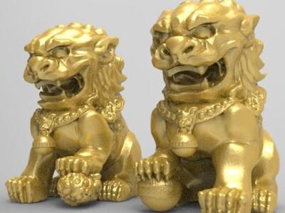 中国狮-3d打印模型