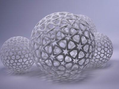 镂空球-3d打印模型