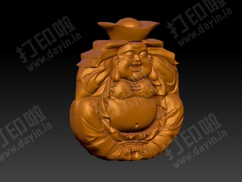 玉雕弥勒佛挂件-3d打印模型