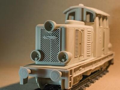 柴油机车模型-3d打印模型