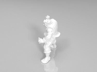 街霸 豪鬼 待机动作-3d打印模型