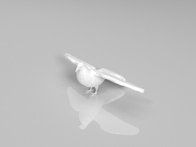 鸽子简模-3d打印模型