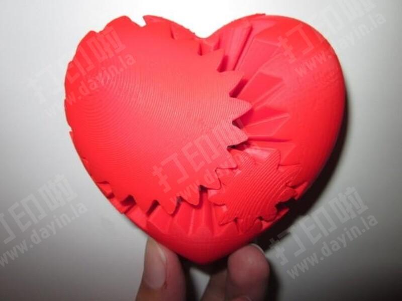 爱心齿轮-3d打印模型