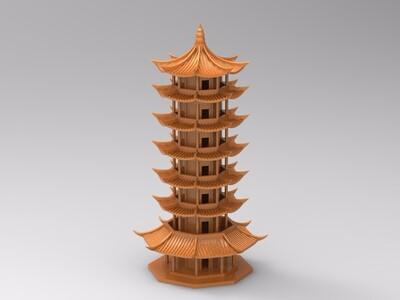 八角楼-3d打印模型