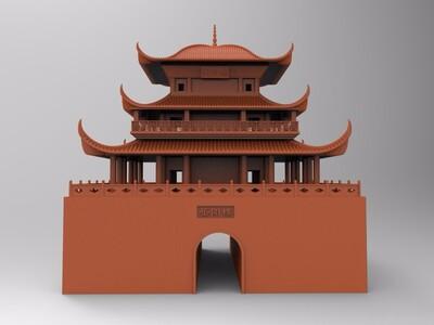 岳阳楼-3d打印模型