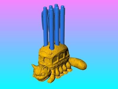 龙猫巴士笔筒-3d打印模型