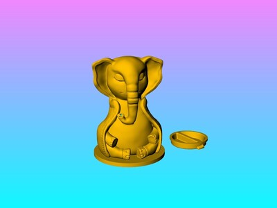 大象存钱筒&笔插&灯笼-3d打印模型