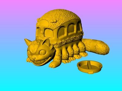 龙猫巴士存钱罐 存钱筒-3d打印模型