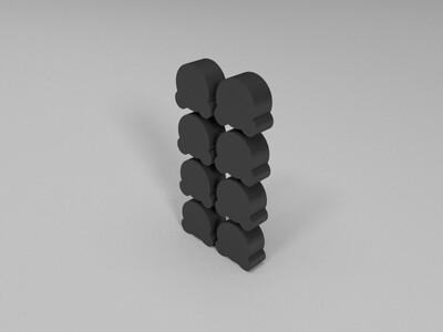 桌游-熊token-3d打印模型