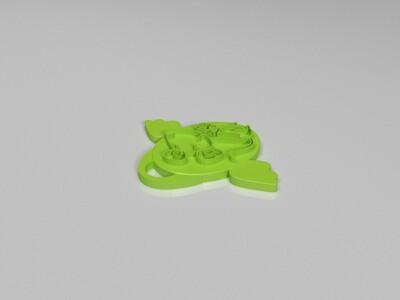 十二生肖吊坠——鼠-3d打印模型