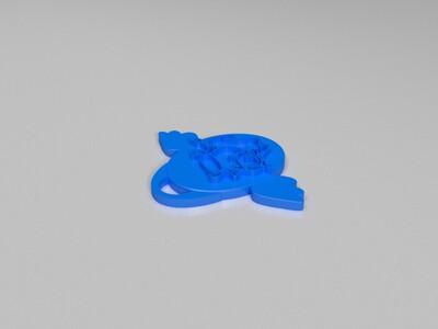 十二生肖吊坠——牛-3d打印模型