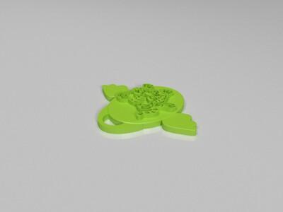 十二生肖吊坠——虎-3d打印模型