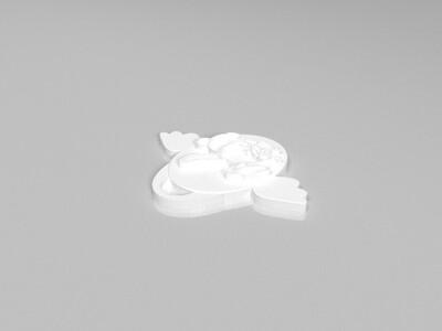 十二生肖吊坠——兔-3d打印模型