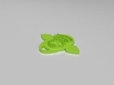 十二生肖吊坠——蛇-3d打印模型