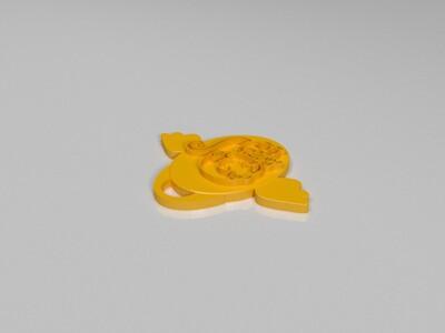 十二生肖吊坠——猴-3d打印模型