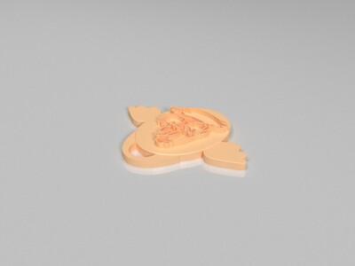 十二生肖吊坠——鸡-3d打印模型