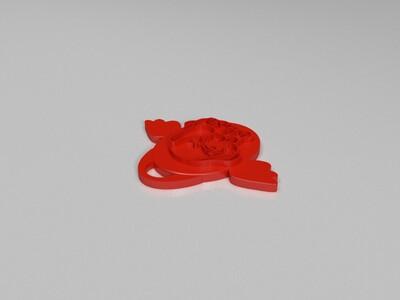 十二生肖吊坠——狗-3d打印模型